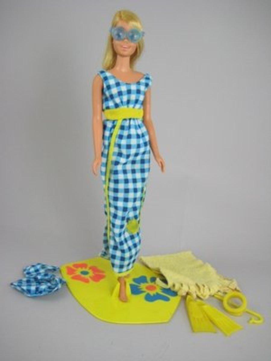Francie Doll Get Ups 'N Go # 7710 - Beach; 1973