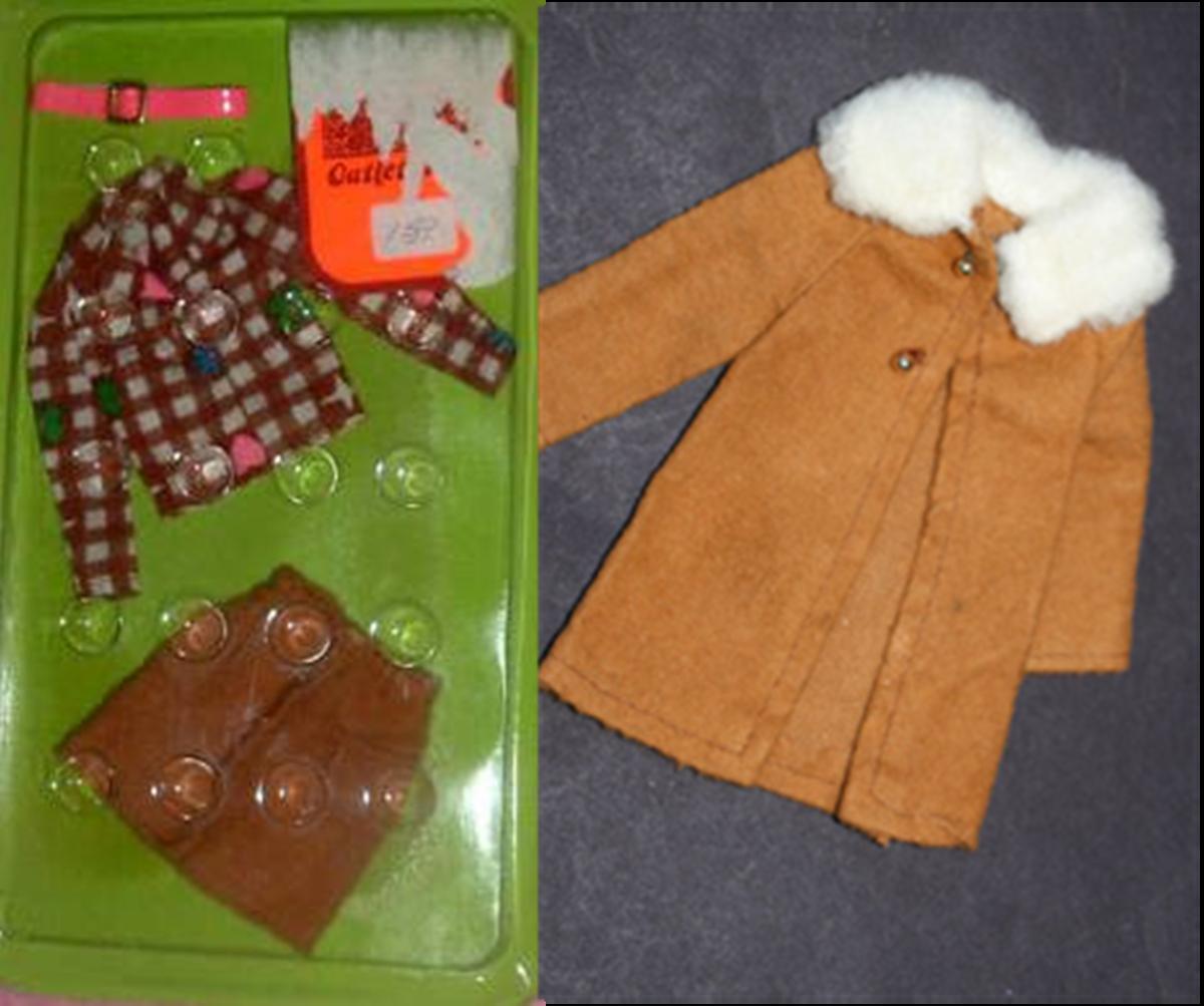Francie Doll fashions #8647 & 8646; 1973
