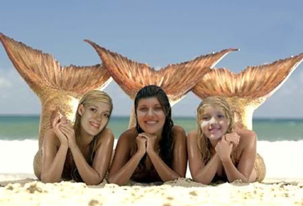 My daughters Michelle, Carissa and granddaughter Faith. They swim like mermaids.