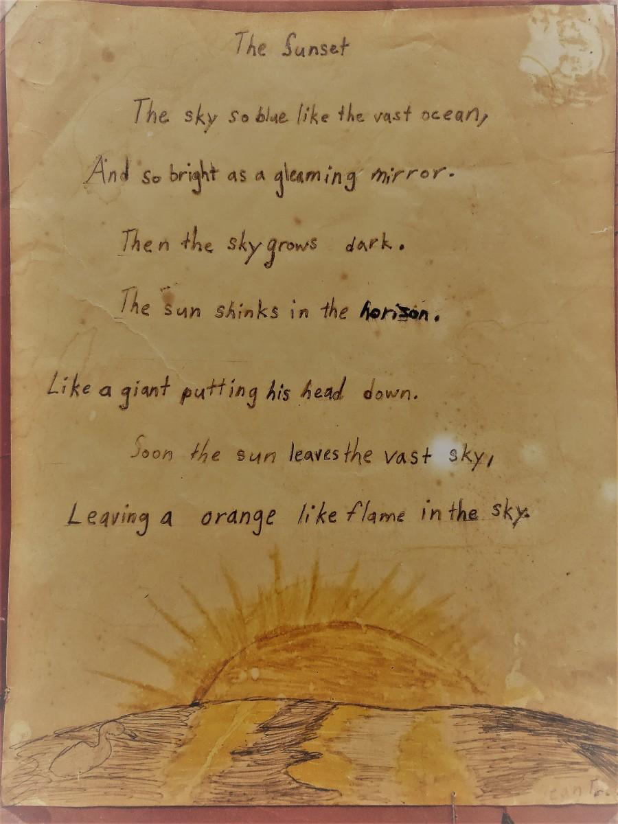 originally written in my 6th grade class from Dean Traylor