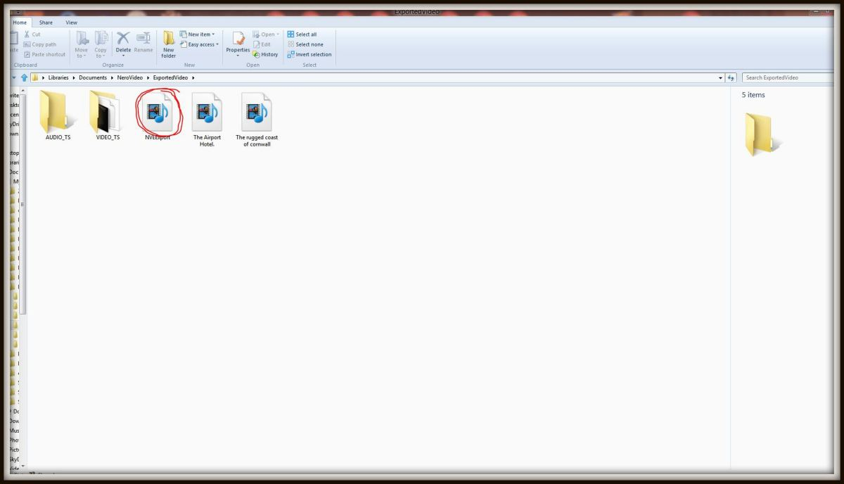 The finished project will be saved to the Nero 11 exported video folder. It can be uploaded to Hubpages amongst other things or burned to a DVD using Nero.