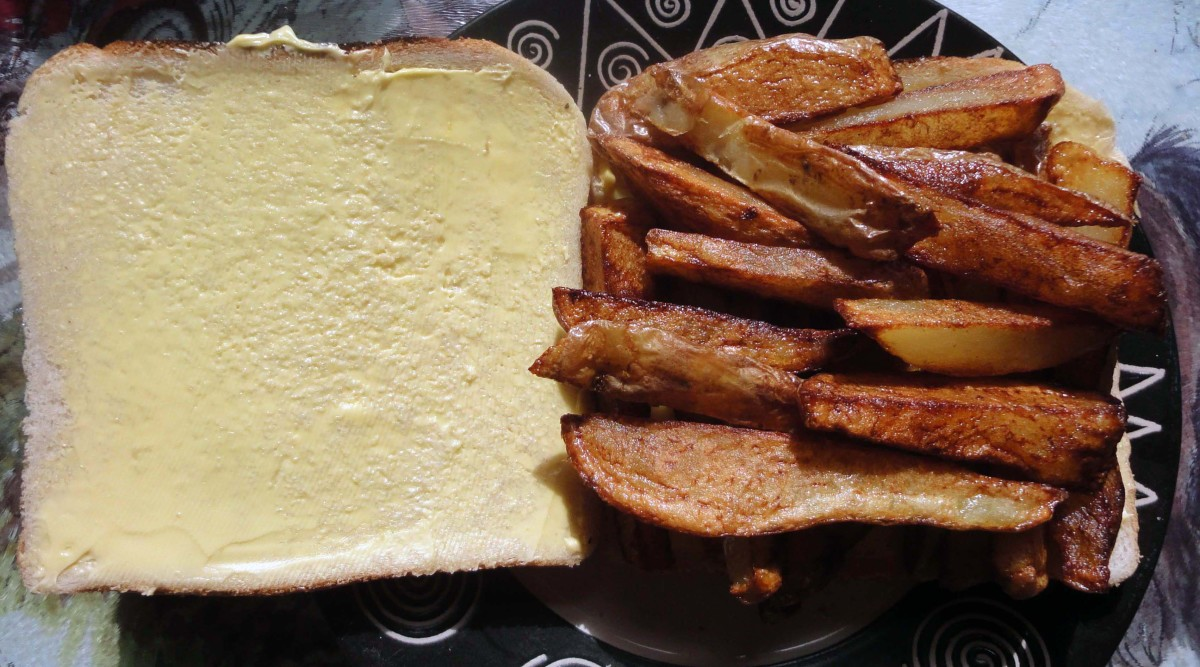 Place chips on one slice of bread.