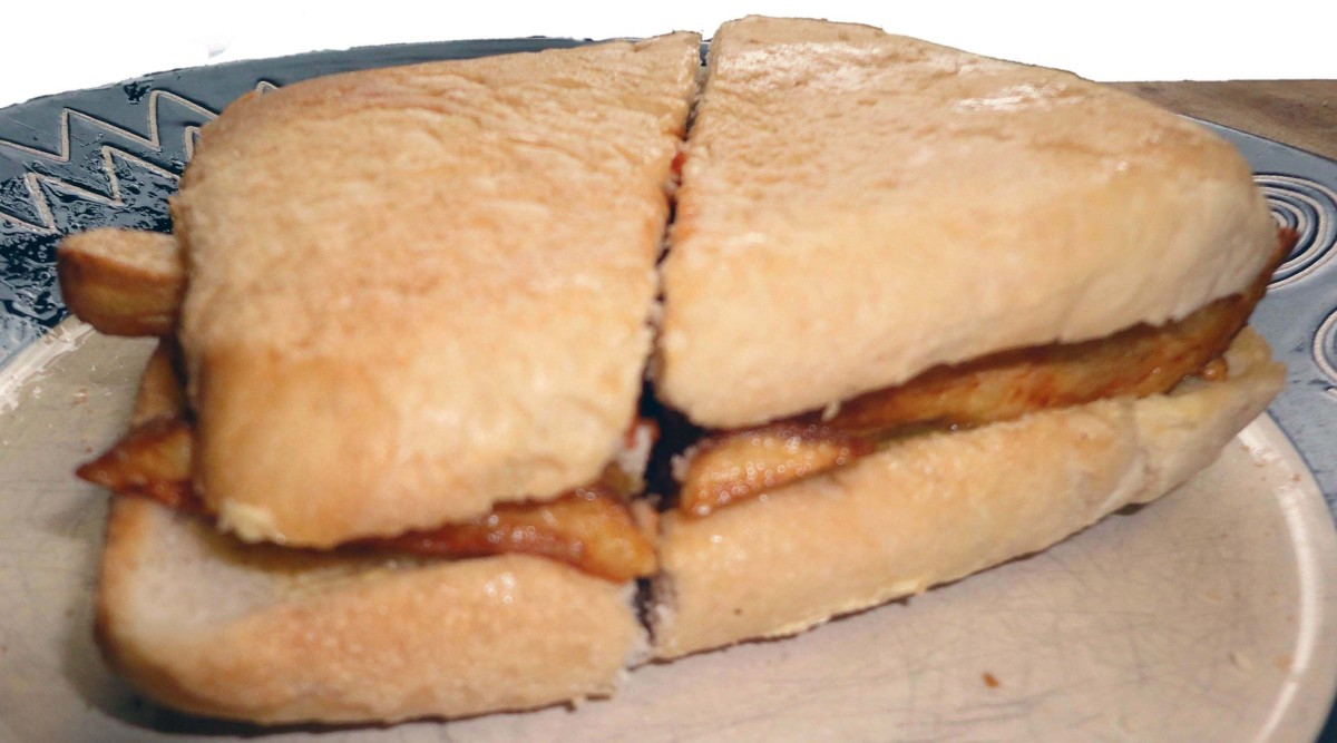 Slice your chip butty in half, eat and enjoy.