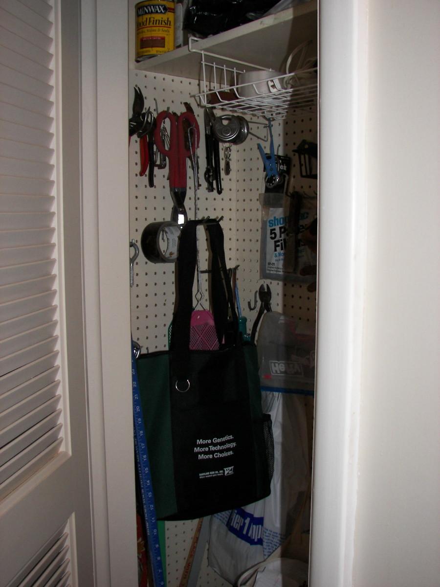 Peg Board Storage Ideas
