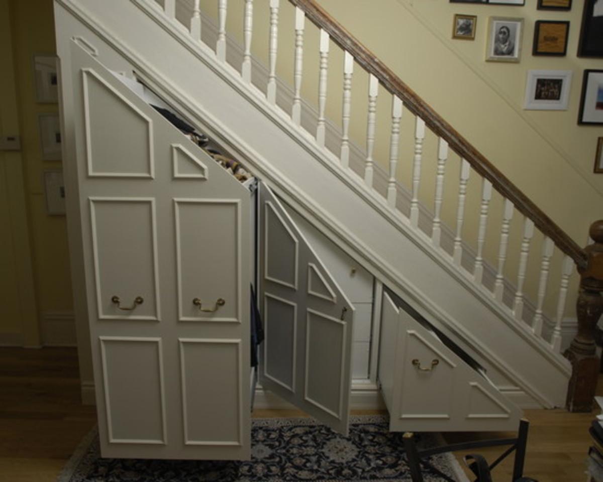 Creative Storage Underneath the Stairs