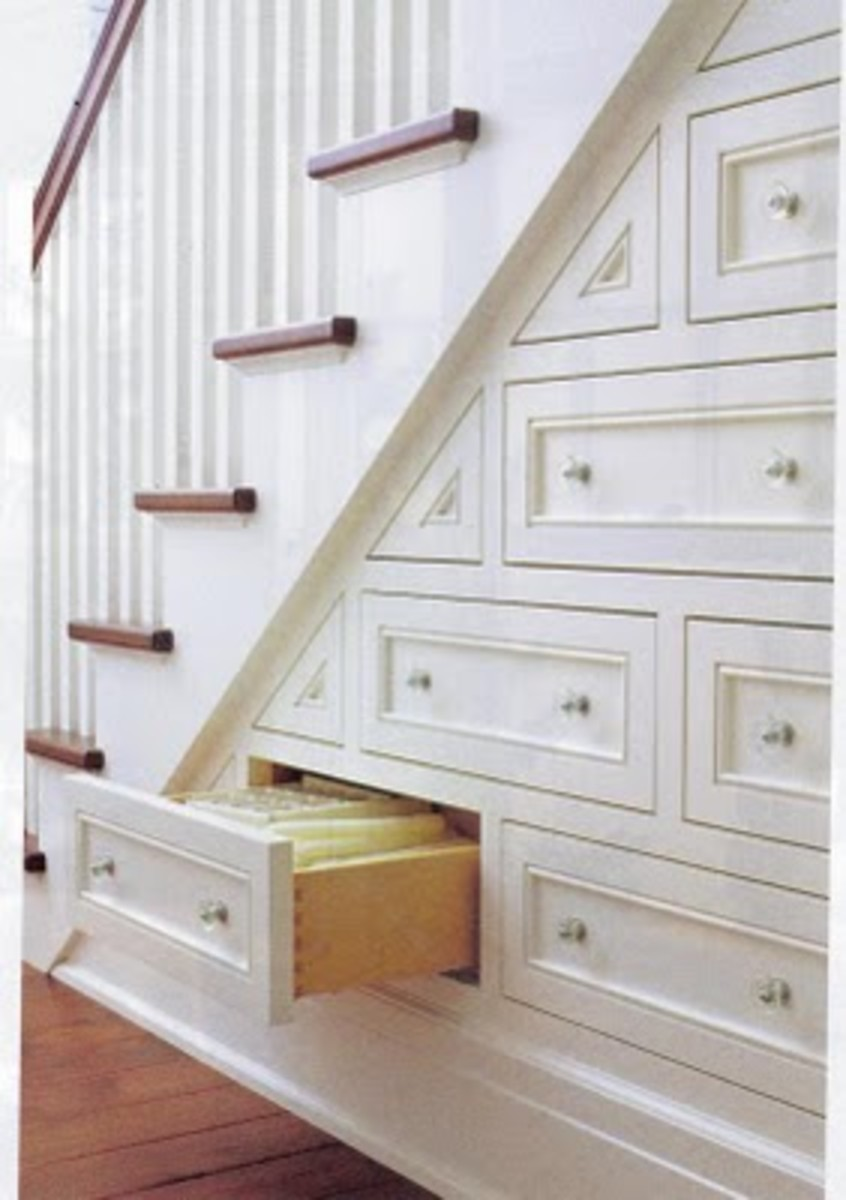 Creative Storage Underneath the Stairs