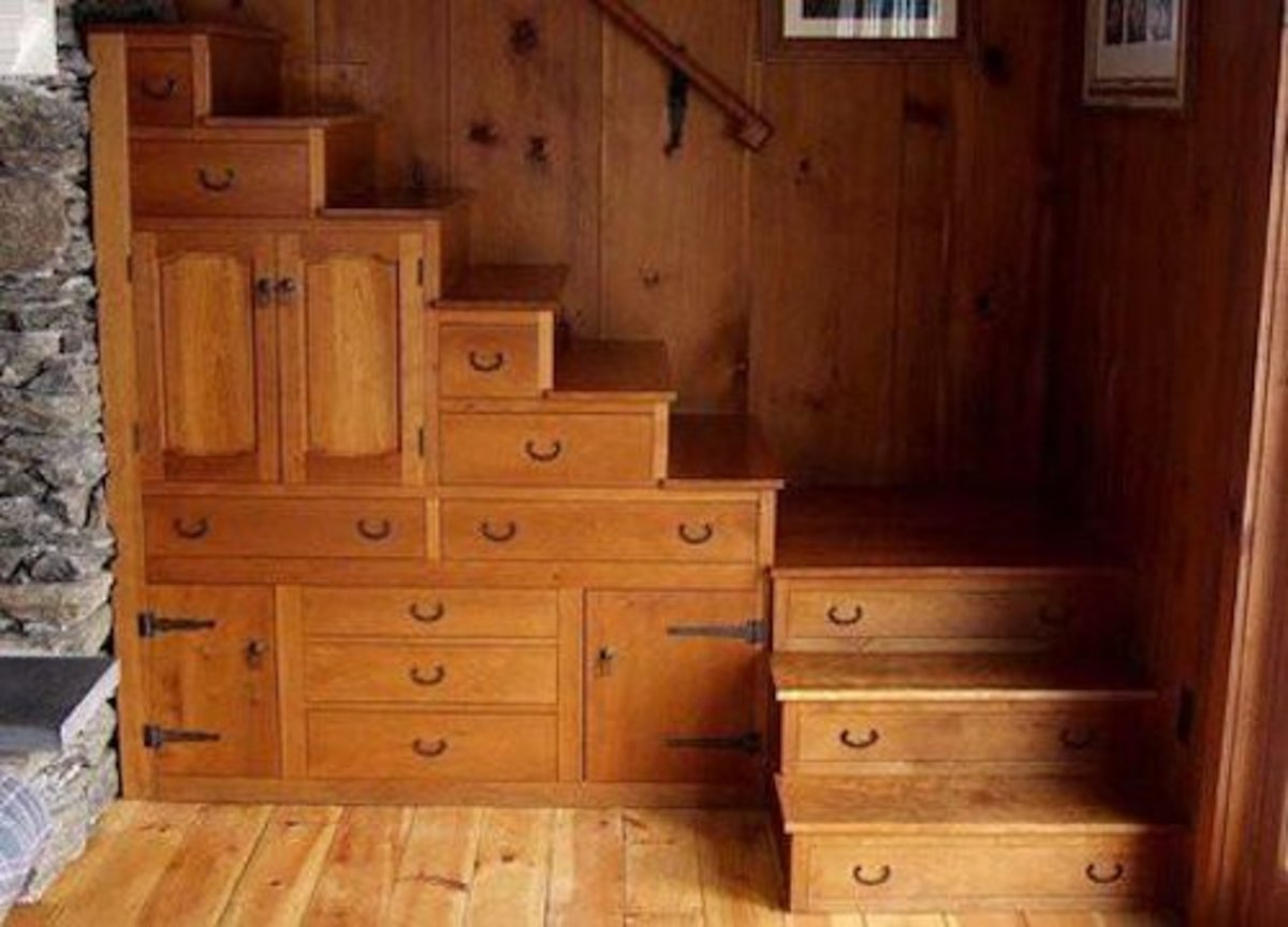 Beautiful WoodenStairway with Furniture Quality Drawers