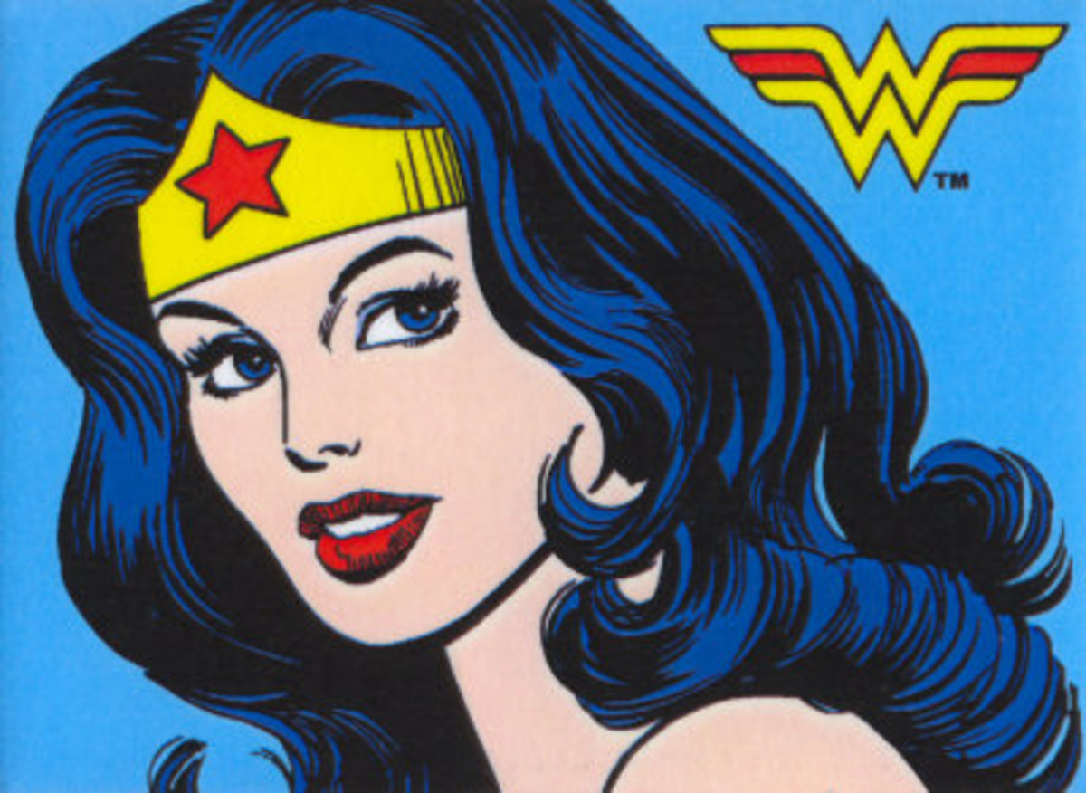 Wonder Woman with Blue Black Hair