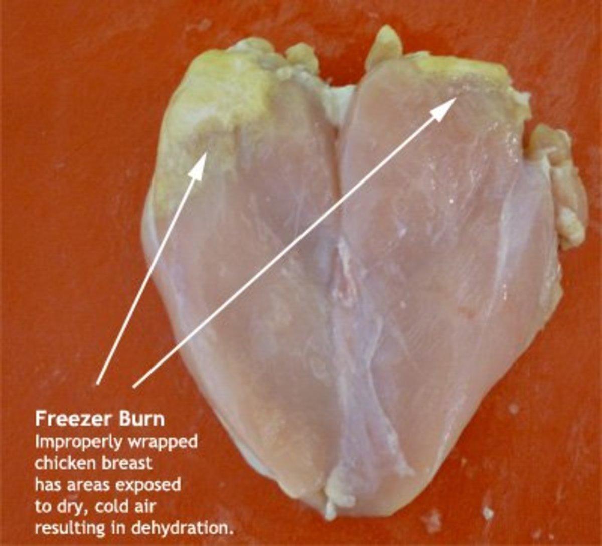 Freezer burn on chicken