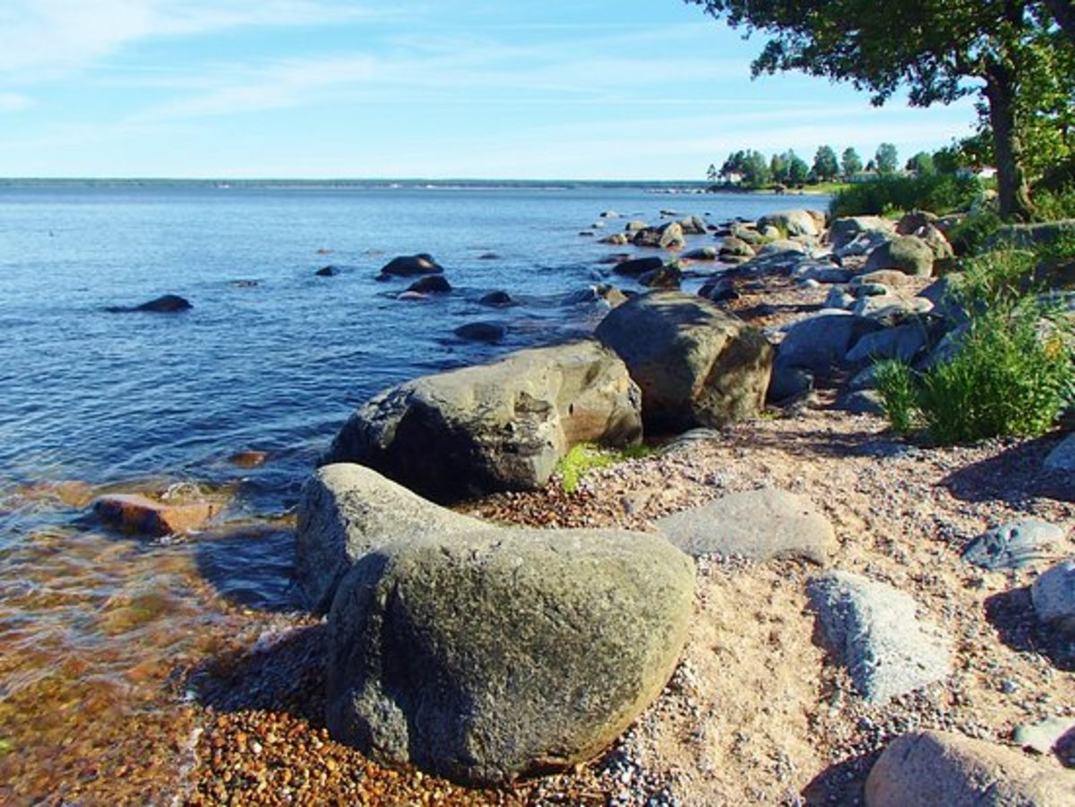 The southern Baltic shoreline, largely low-lying, shallow inlets and bays between where Gdansk and Kaliningrad now lie, the sea prone to icing up in the Gulf of Bothnia