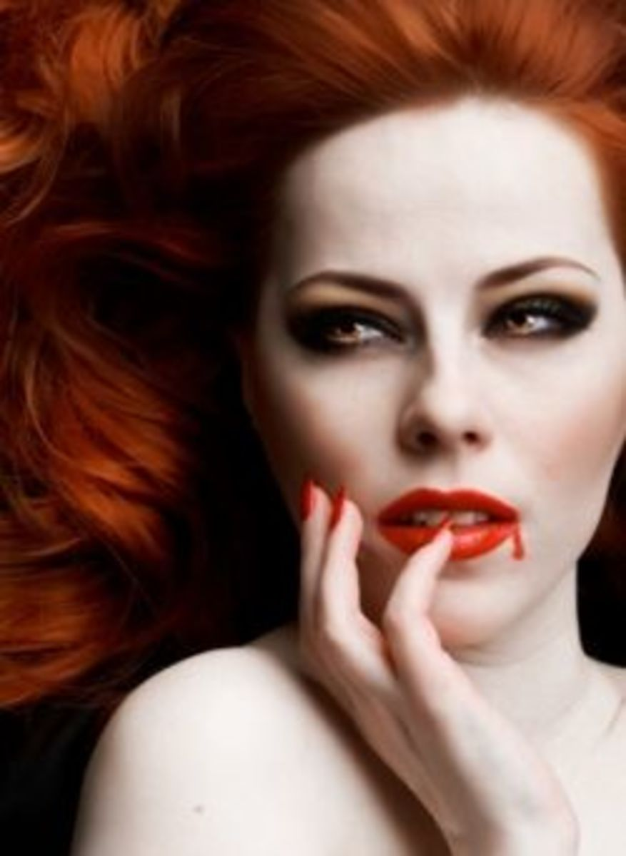 Vampire Women Are Very Attractive.  Take a look at this red head.
