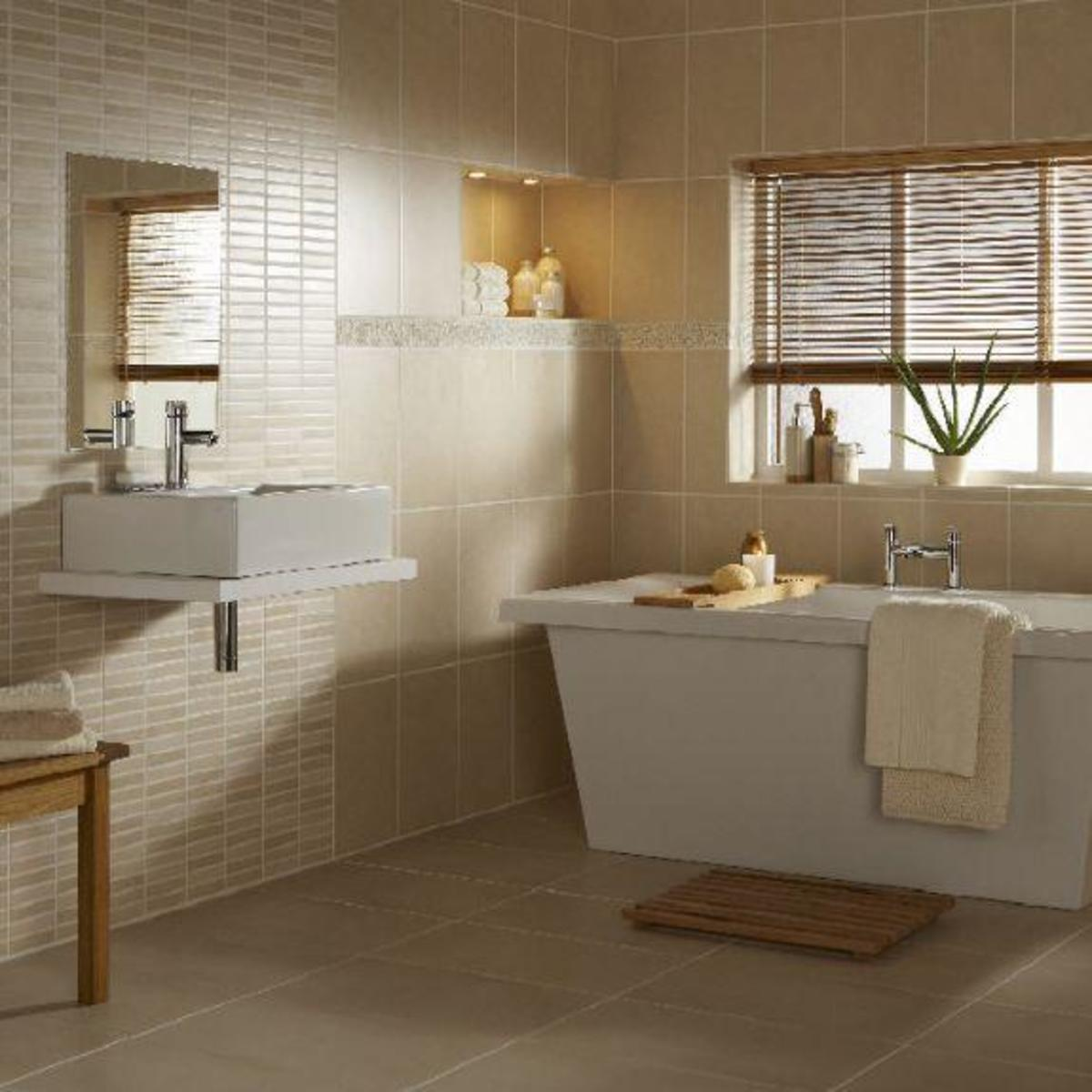 Bathroom Tiles Beige wall & floor tiles, should they match? | hubpages
