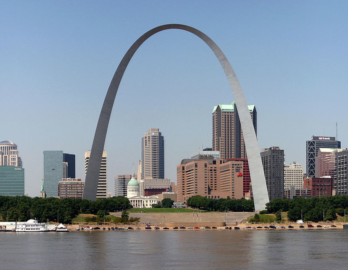 The Gateway Arch in St. Louis, Missouri