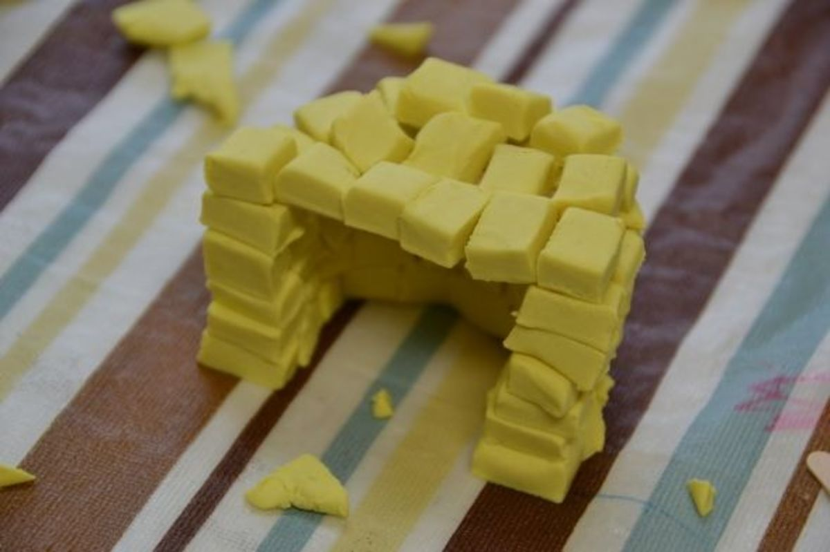 Sod houses made from play-dough - Photo credit: Michelle Harrison, who attends our class