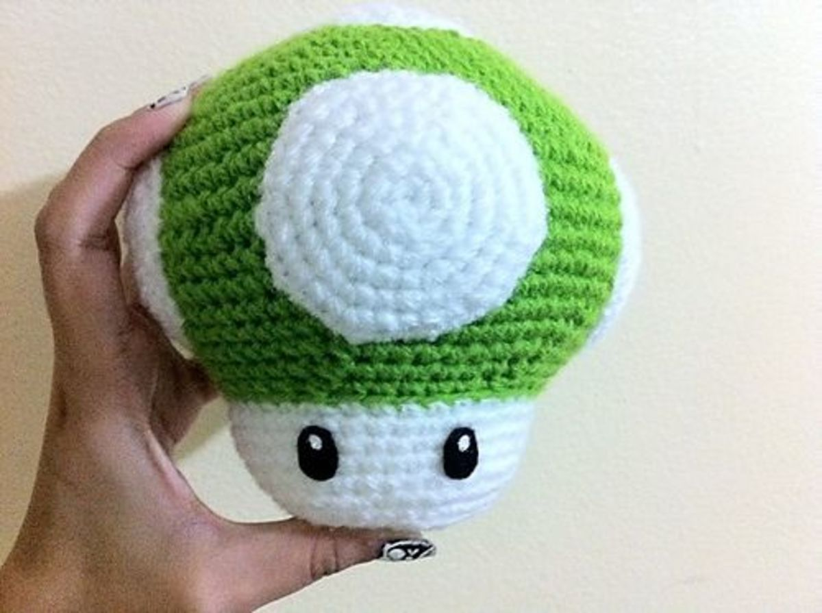 Big Mushroom Crochet Toy Pattern