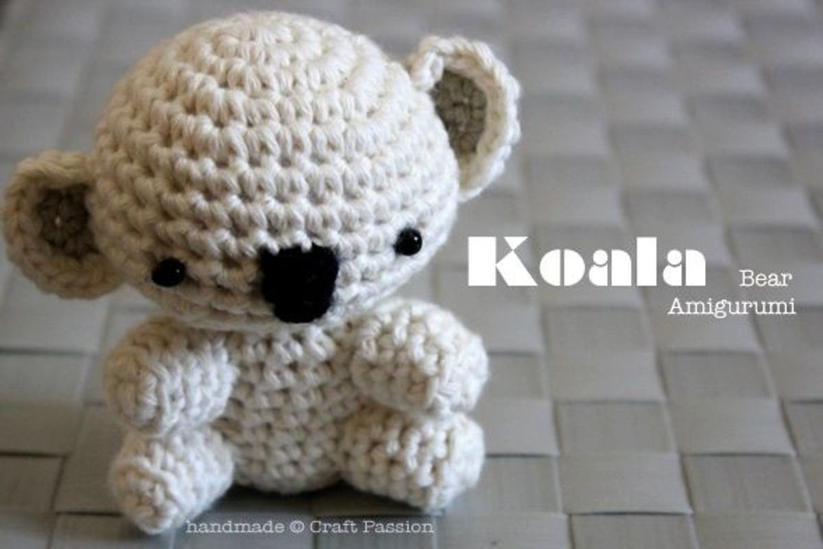 Crochet Toy Patterns Koala Bear Amigurumi Tutorial