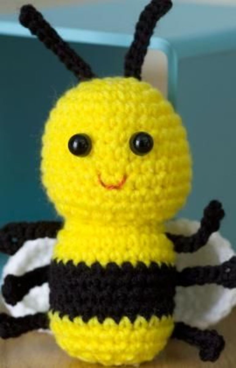 Baby Bee Free Crochet Toy Pattern