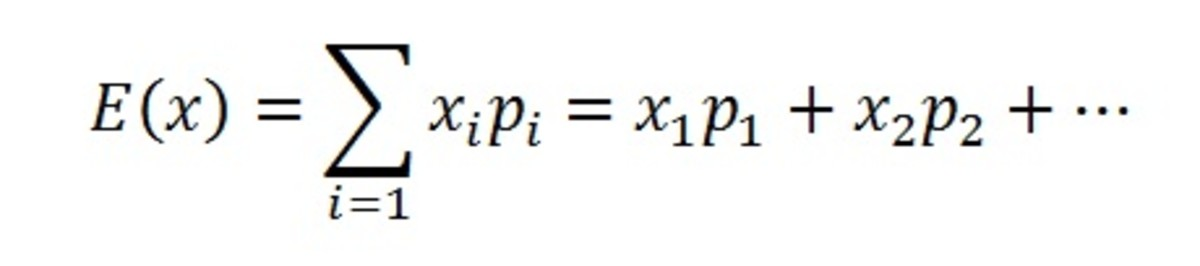 expected value statistics formula