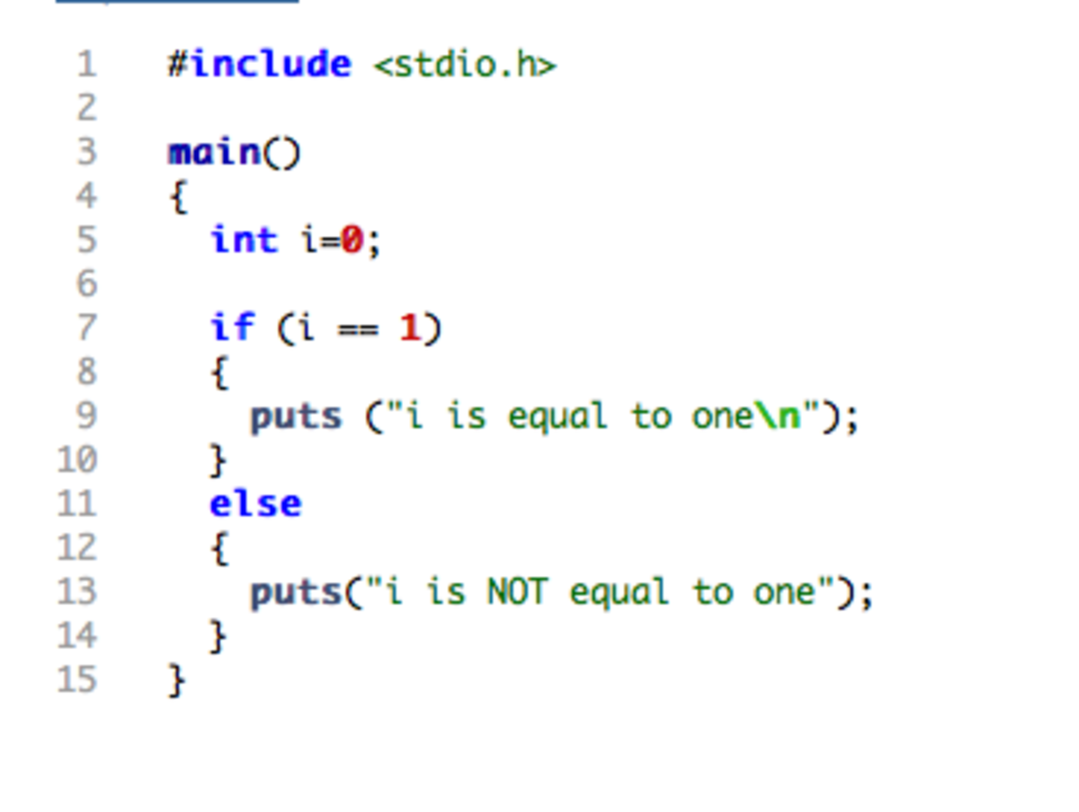 A sample program in the C language