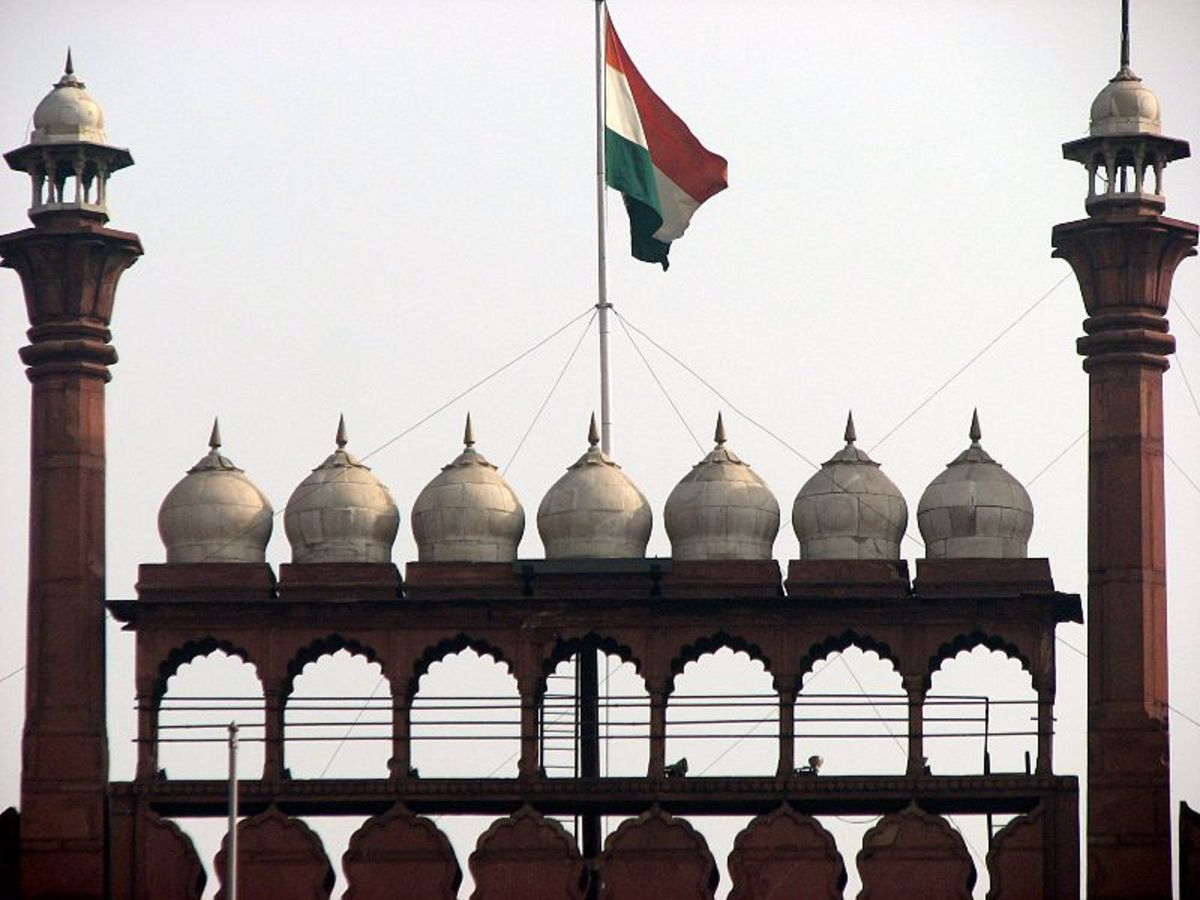 Red Fort or Lal Qila where traditionally the Indian flag is hoisted on Indian Independence Day