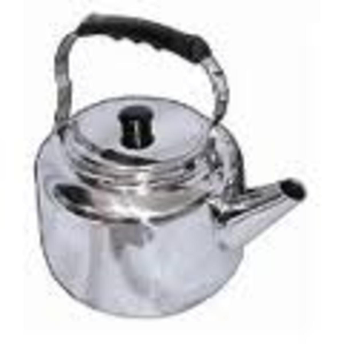 Heavy duty stainless tea kettle