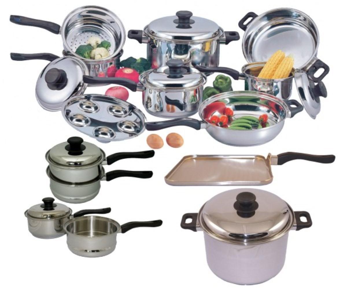 Complete sets of Stainless pot and pans