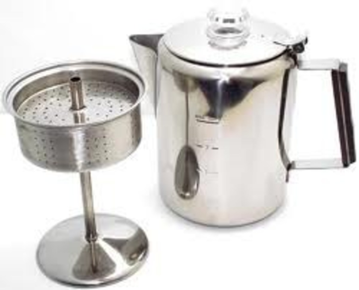 Old fashioned coffee percolator