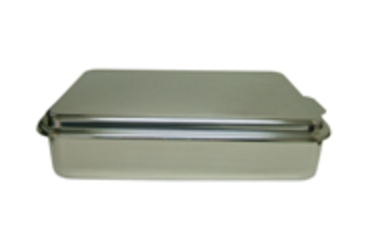 Stainless covered cake and bake pan