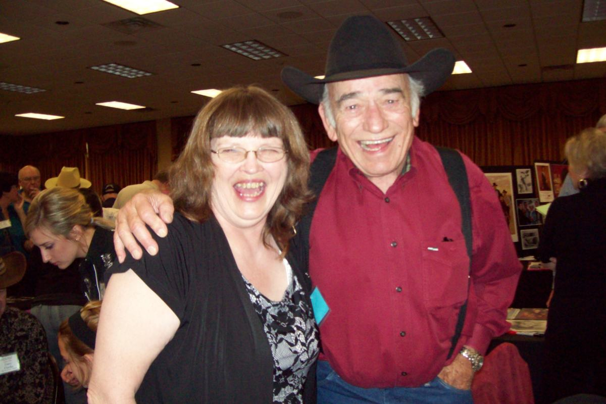 This was taken at the Memphis Film Festival this year at The Gathering of the Guns 4. This is me with James Drury-The Virginian. Now do I look thrilled or what?