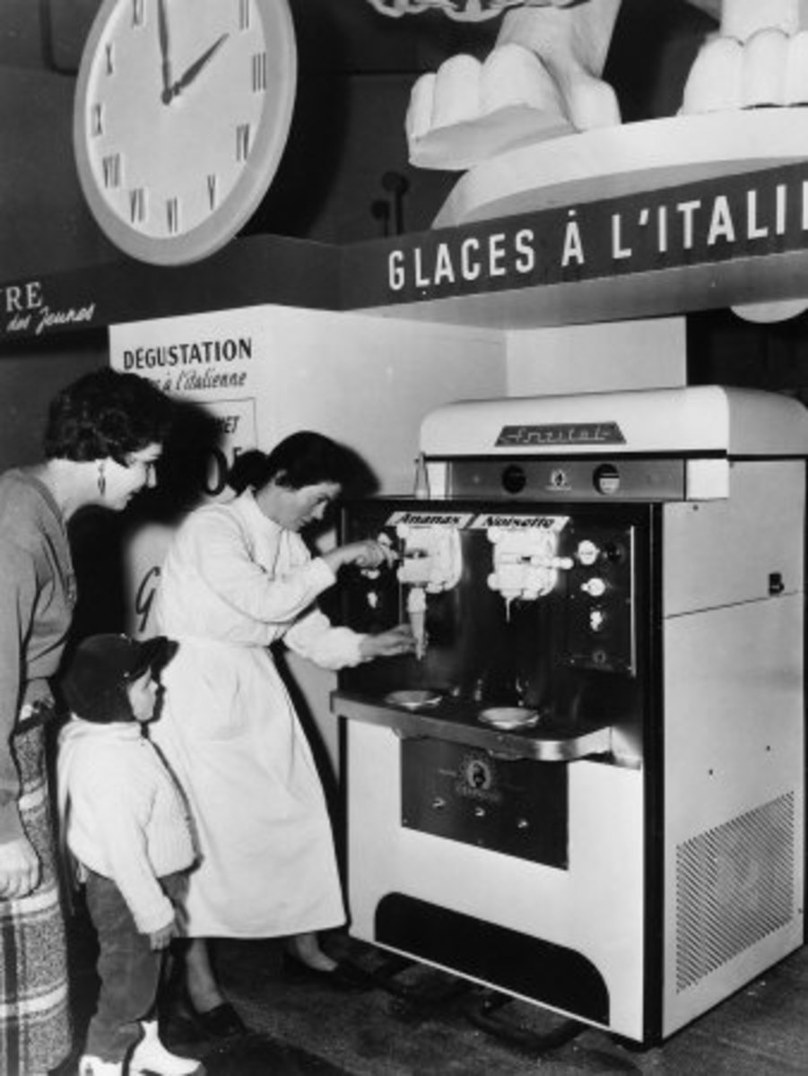 Italian ice cream machine