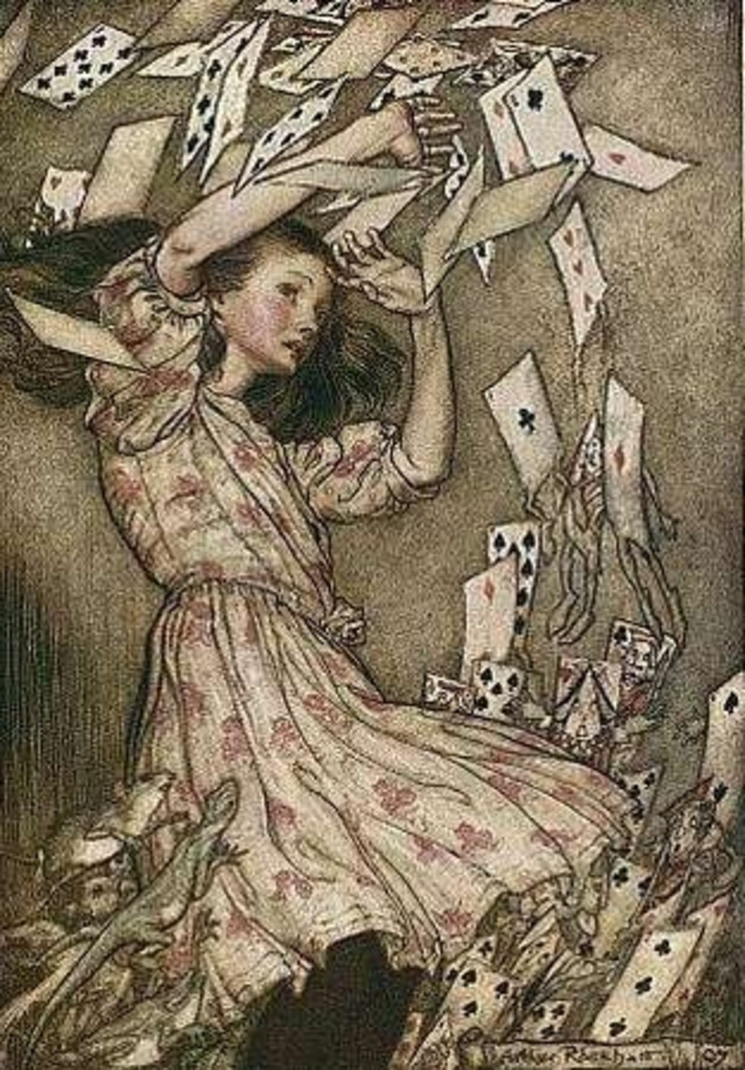 Alice in Wonderland illustrations by Arthur Rackham