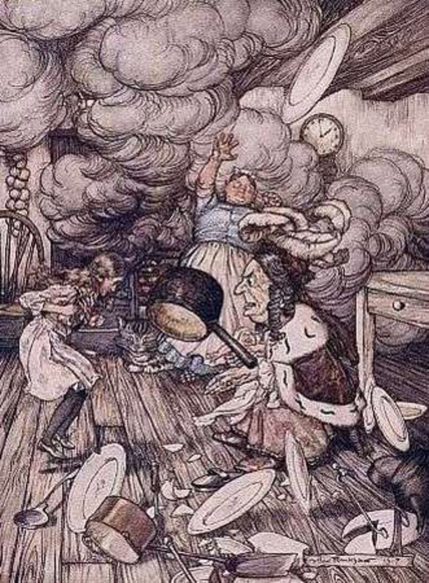 Alice is among most known character, illustrated by Rackham