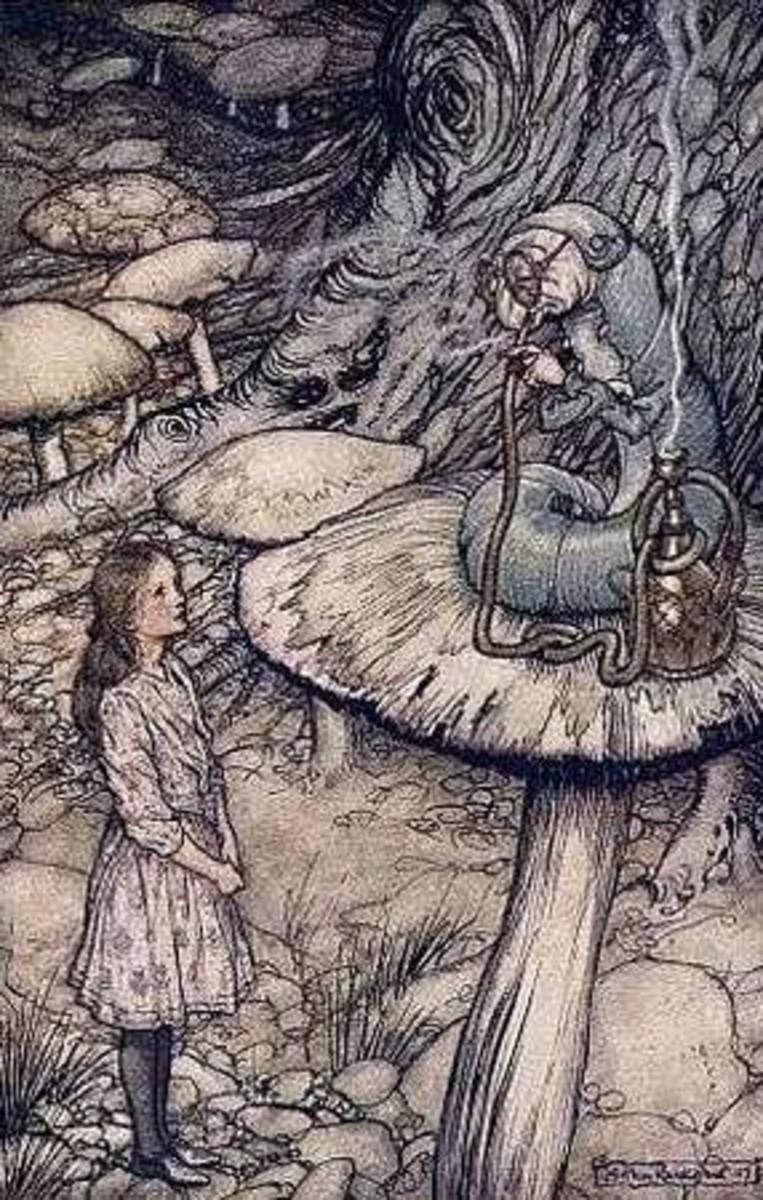Arthur Rackham Alice in Wonderland illustrations