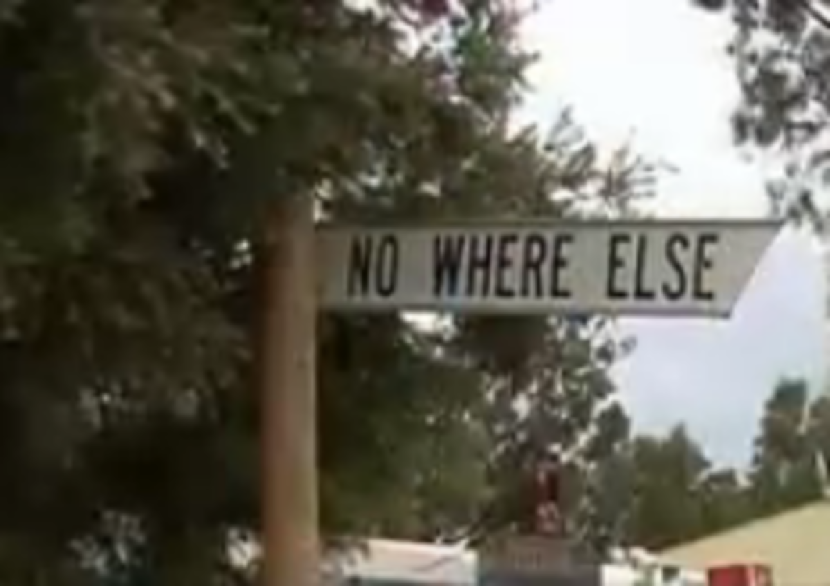 Sign of Nowhere Else in South Australia
