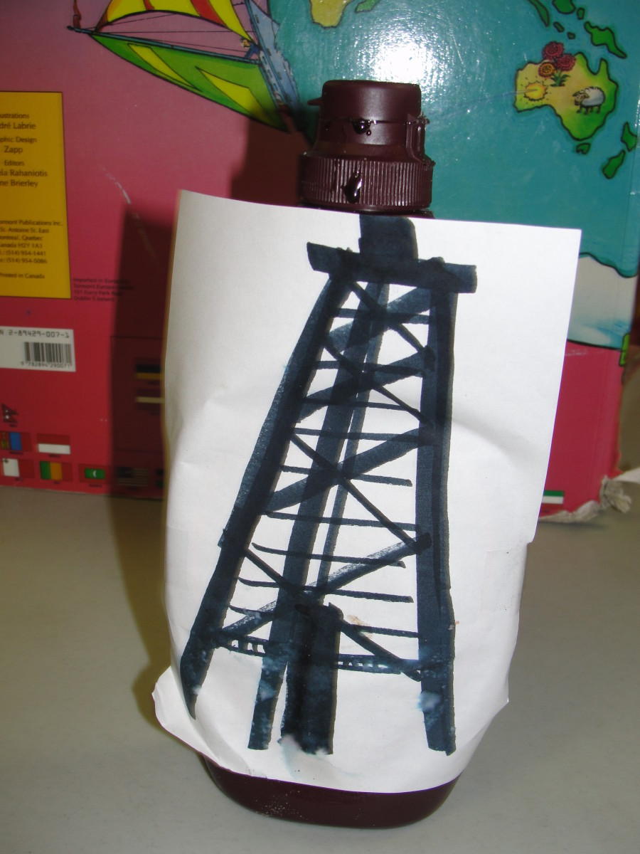 Chocolate syrup oil derrick