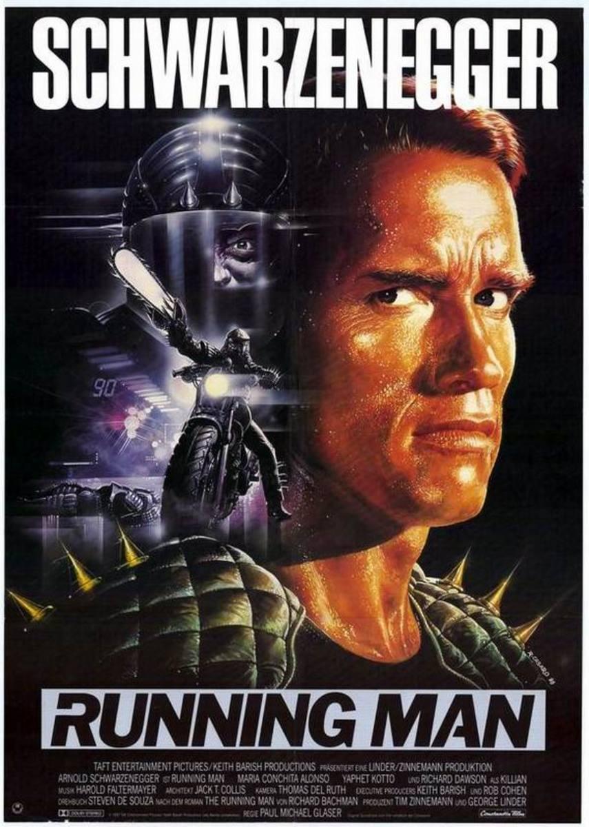 The Running Man (1987) German poster