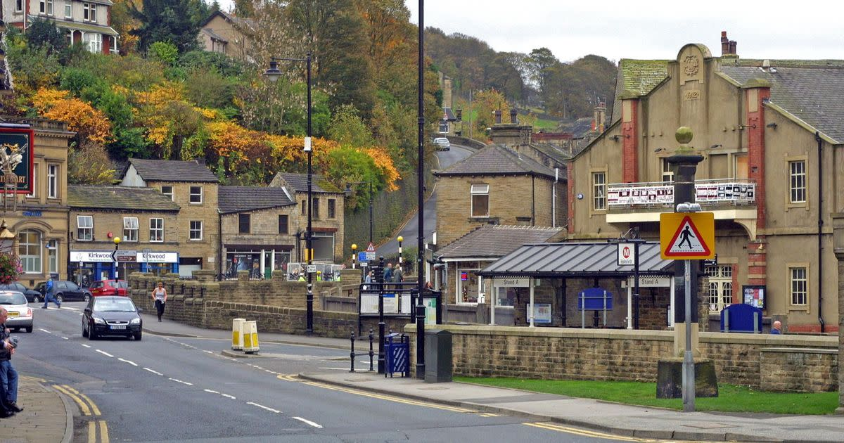 Central Holmfirth - I came this way a few times with family and friends