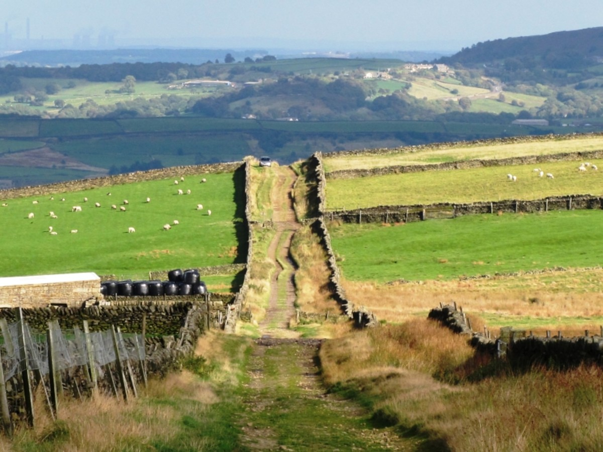 The moortops near Holmfirth, a setting for further exploration around the area filmed for the series