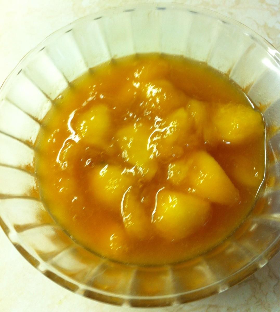 Fresh Peach Dessert Topping