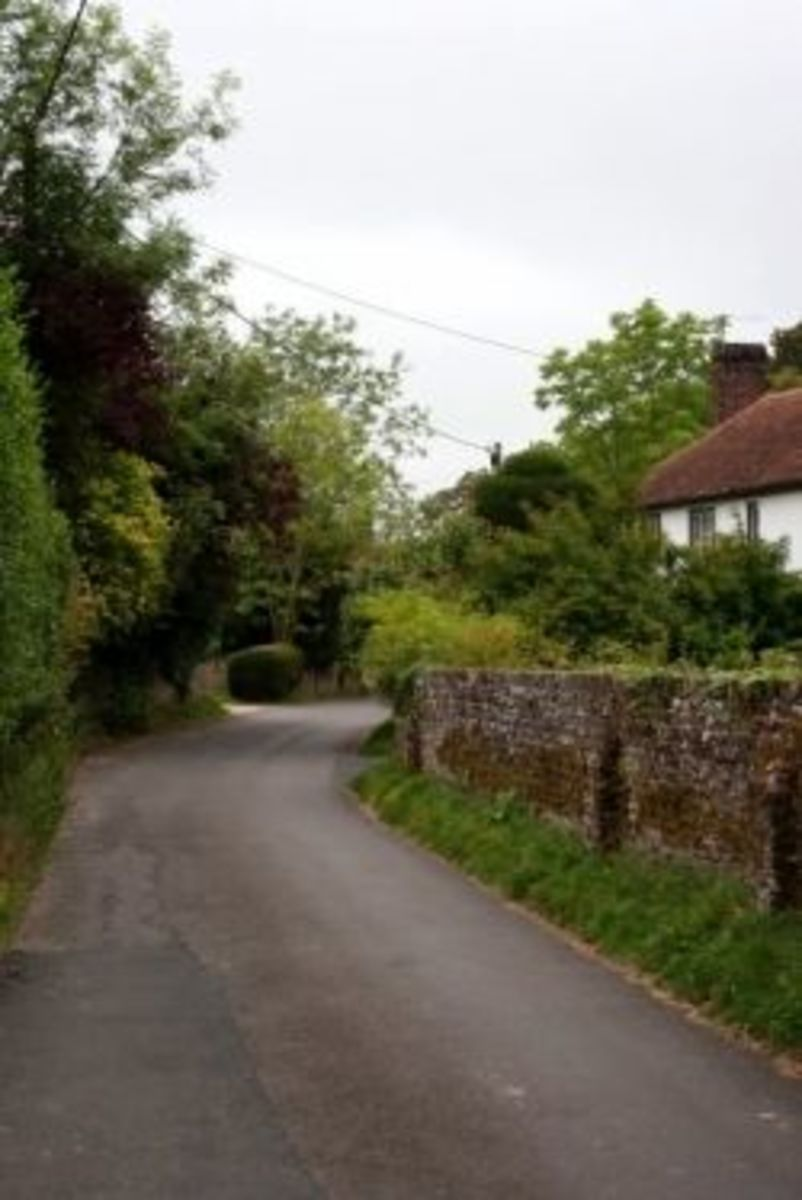 The main road into the village