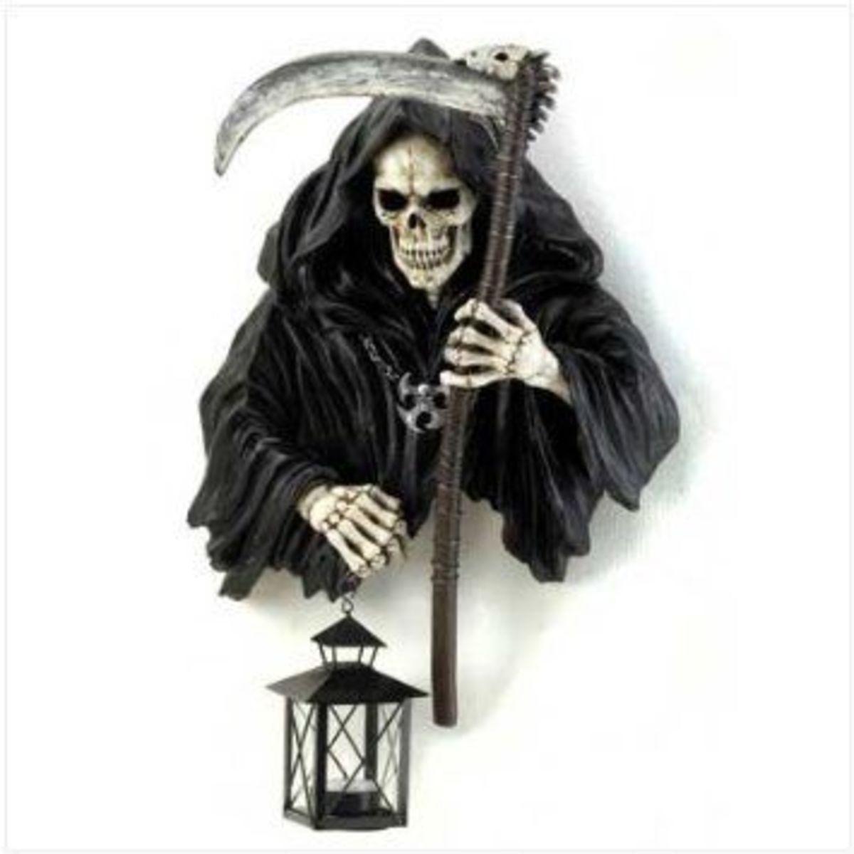 Grim Reaper Halloween Lamp