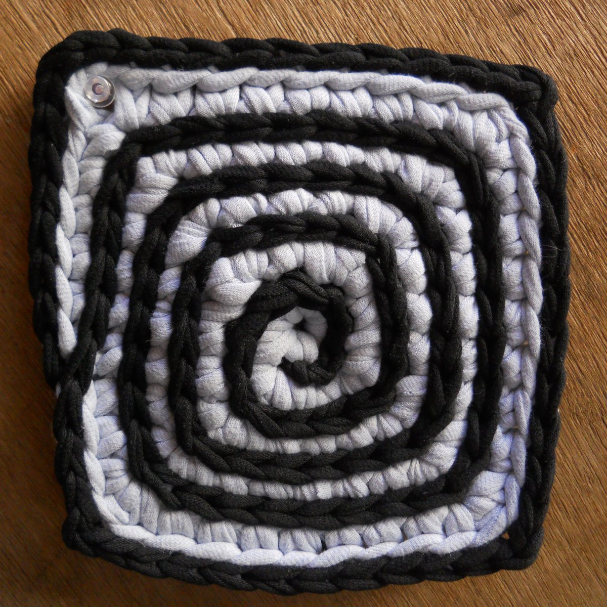 Hot Hot Hot Pad #2 - I slip-stitched the spiral.