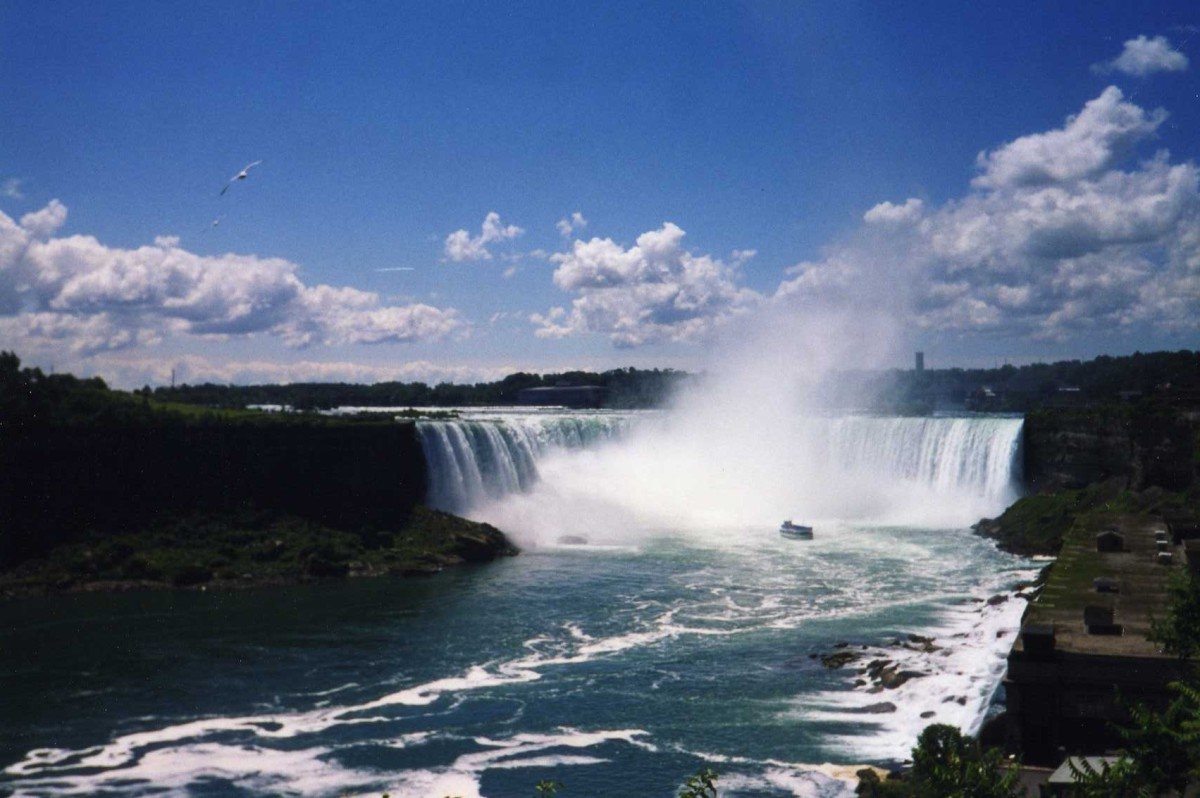The Immense Power Of Niagara Falls From The Canadian Side Is A Site To Behold