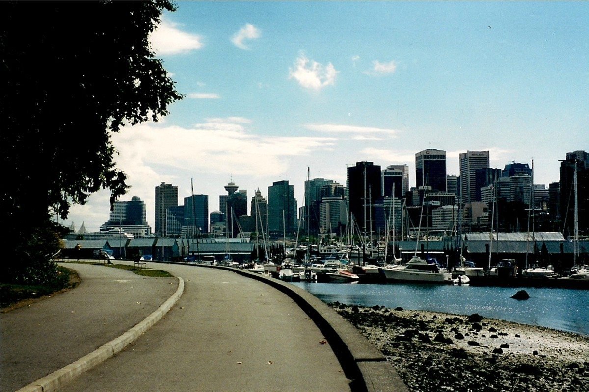 Vancouver Skyline As Seen From Stanley Park