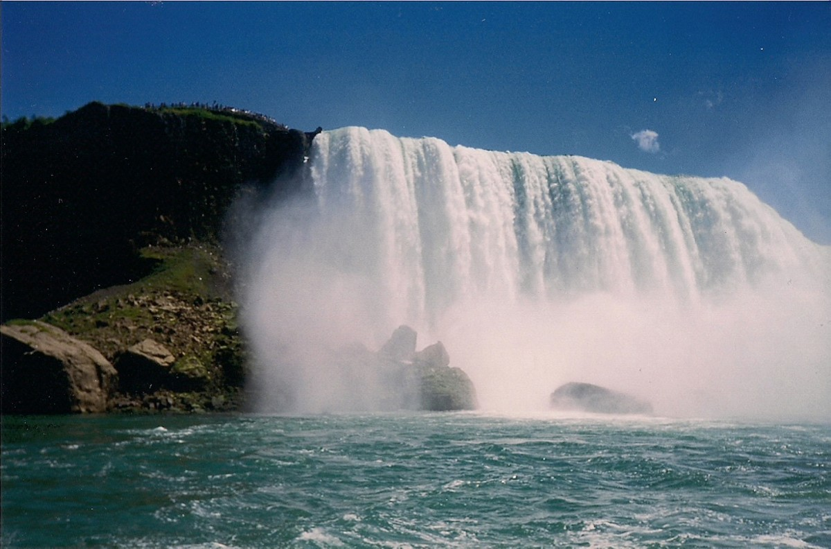 Up-Close View of Niagara Falls From The Maid Of The Mist