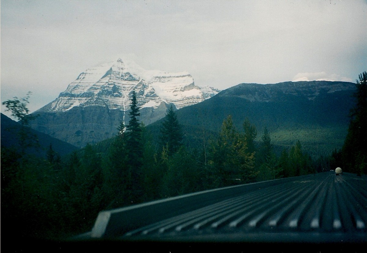 Taken From The Observation Car of a Via Rail Train Passing Through The Canadian Rockies