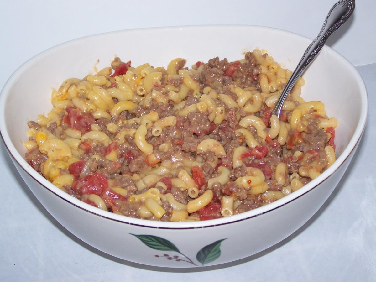 Macaroni Tomatoes Hamburger