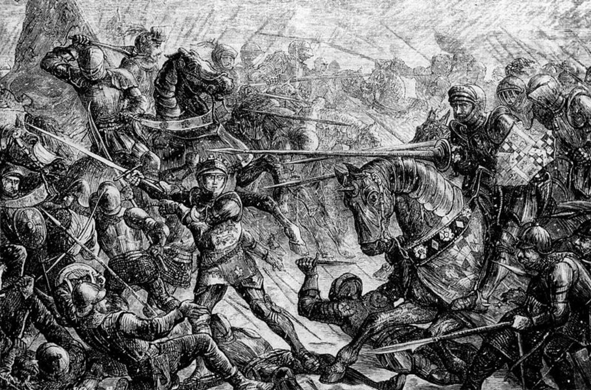 The battle rages - no quarter was offered or asked for on an icy day. This would be the day of reckoning, a pay-back for Wakefield and Queen Margaret's humiliation of Edward, Duke of York