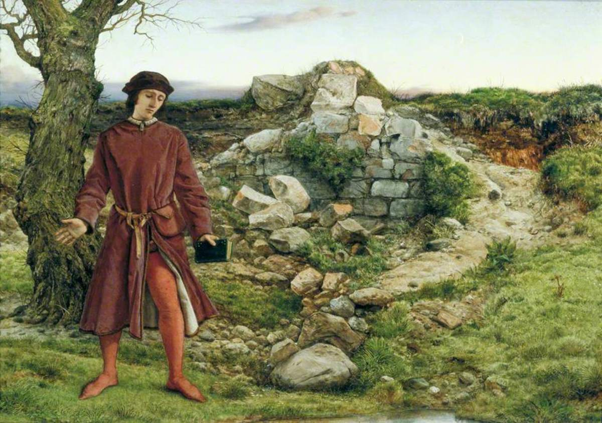 William Dyce painting of Henry VI - he was undecided about fleeing Towton, in a daze, confused. He had to be dragged away when his queen, Margaret fled the field.