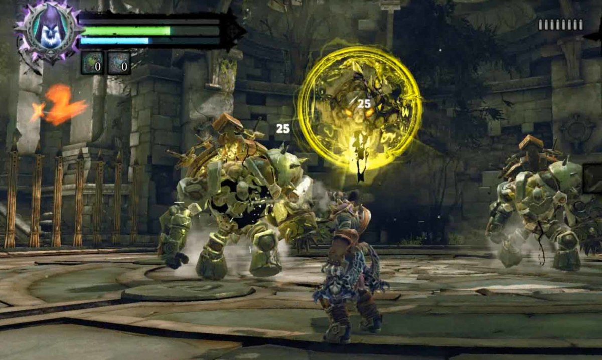 Darksiders 2 Lost Temple Sentinel Constructs Fight